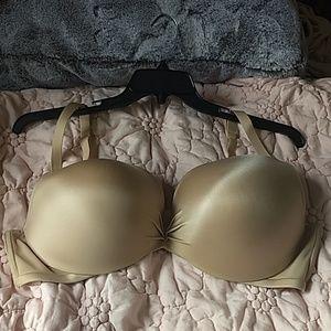 Cacique Boost Plunge Nude Bra